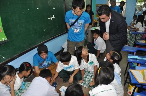 都市部の学校を視察